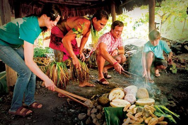 umu, samoa ground oven samoan teuila festival le vasa resort