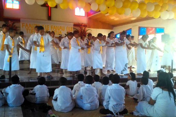 Samoa's white Sunday church celebration